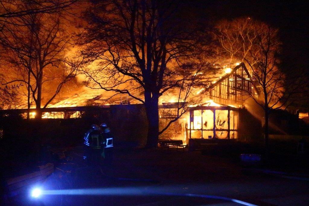Krefeld Zoo Feuer